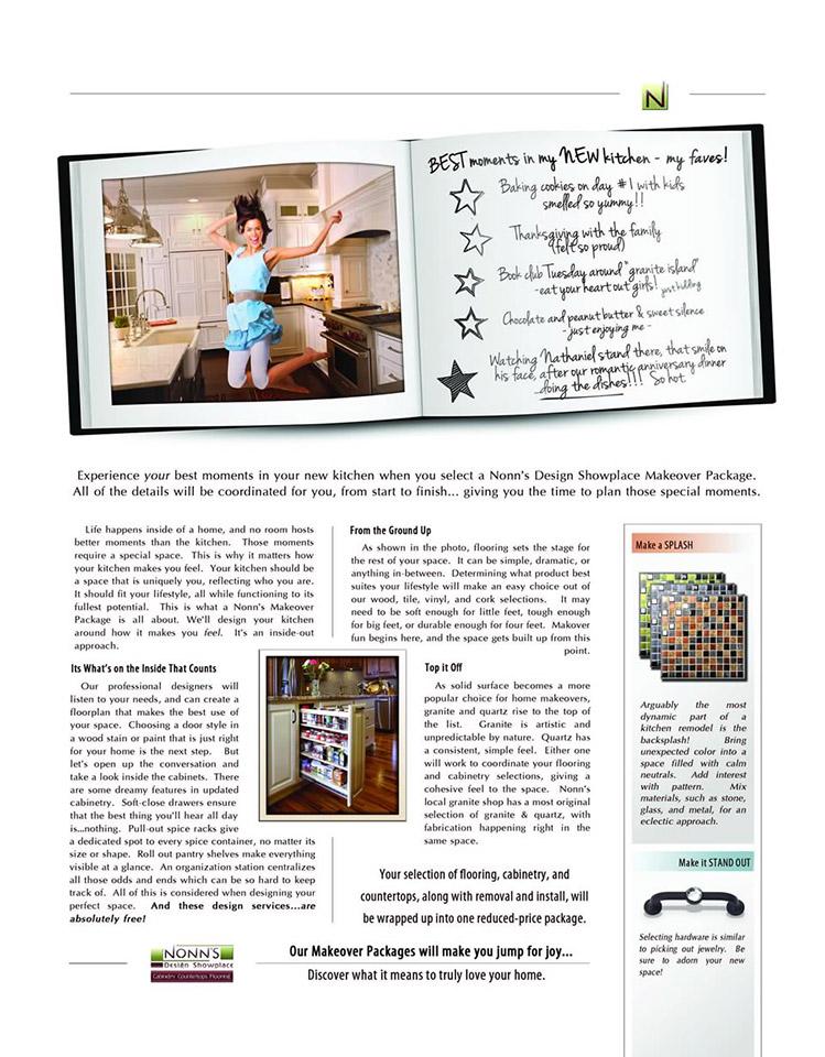"""Best Moments"" - Nonn's Design Showplace Print Advertising"