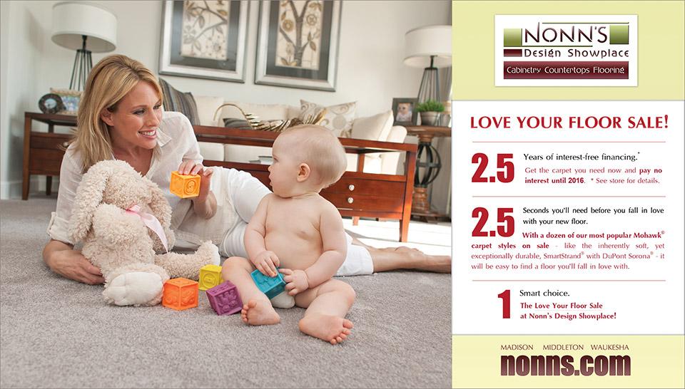 """Love Your Floor"" - Nonn's Design Showplace Sales Advertising"