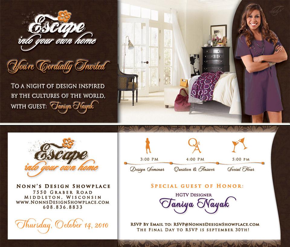 Nonn's Design Showplace - Taniya Nayak Event Invitation Design