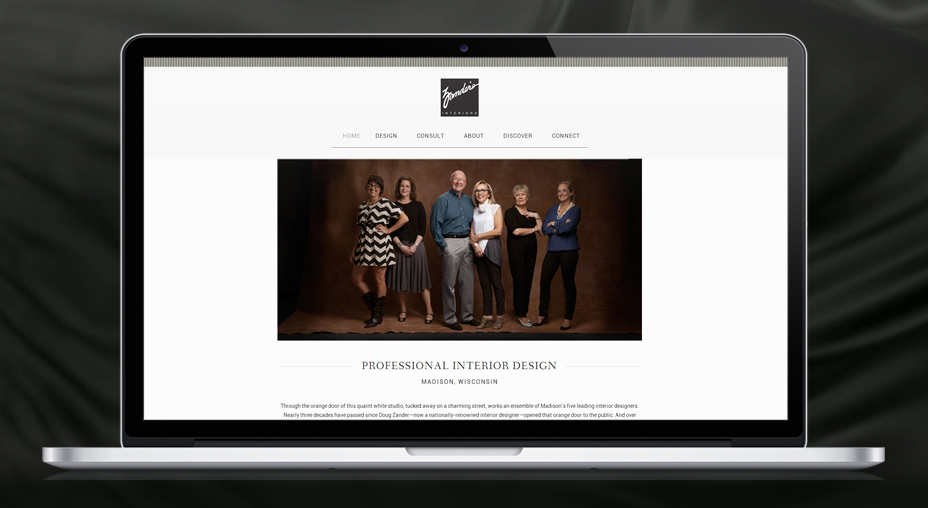 Zander's Interiors - Website Design and Branding
