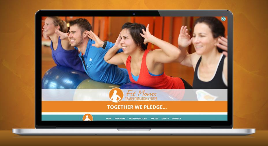 Fit Moms Website Design - Home Page Screenshot
