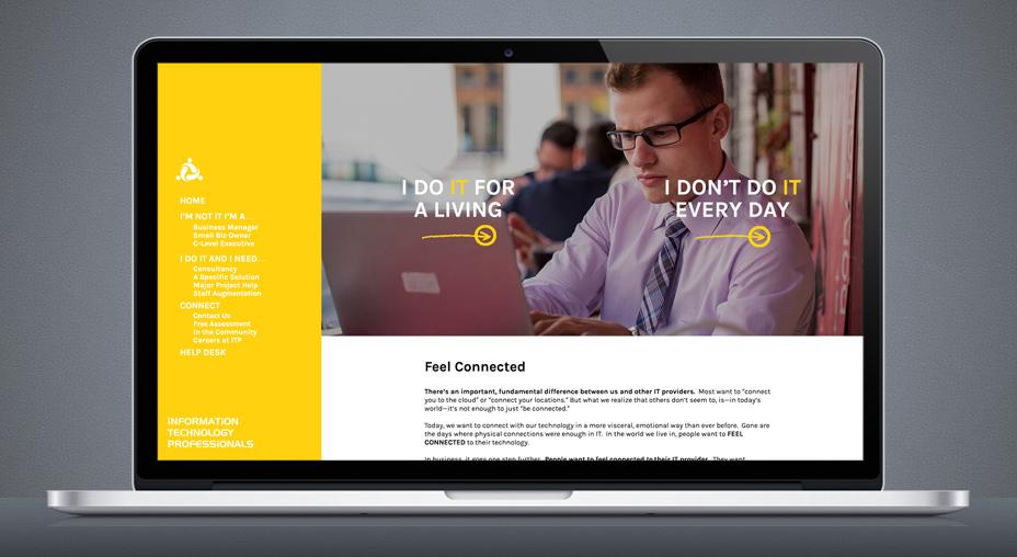 ITP Website Design - Slide 1