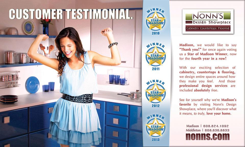 Nonn's Design Showplace - Star of Madison Advertising