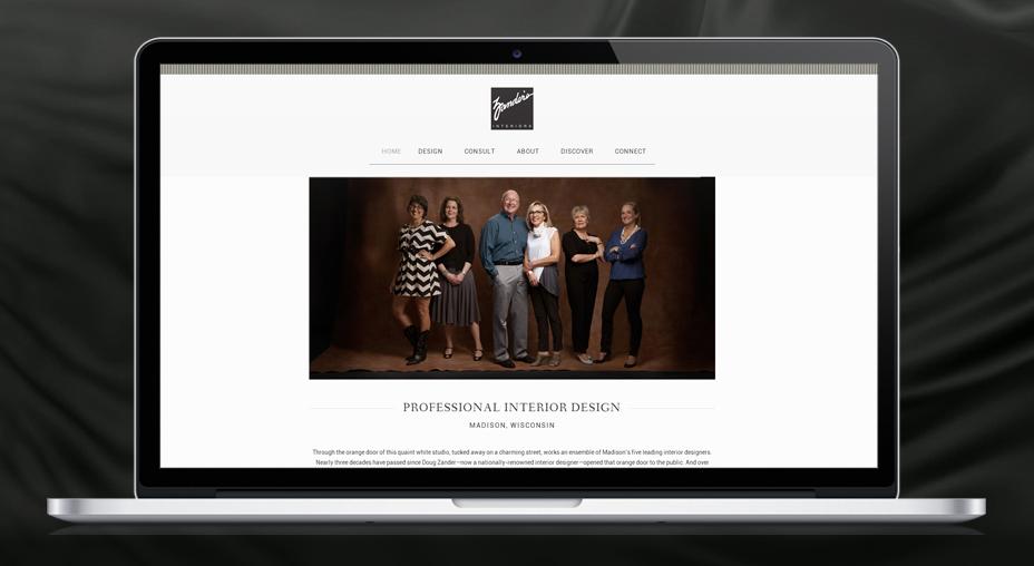 Zander's Interiors - Website Design and Branding